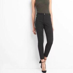 Gap Moto zip leggings black pants Medium $79